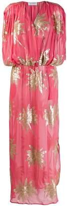 AILANTO long sequinned palm dress