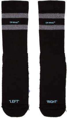Off-White Black and Blue Reversed Sport Socks
