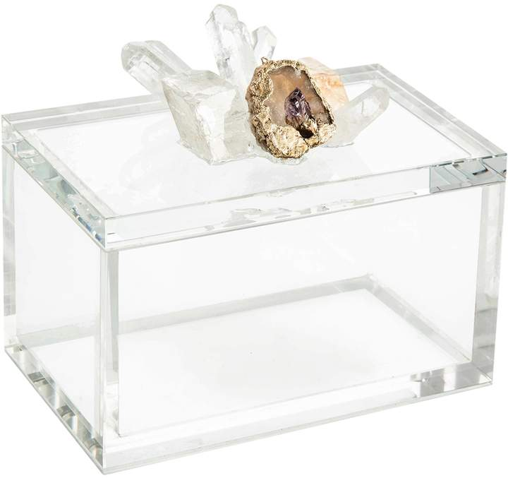 John Richard Crystal & Lemon Quartz Box