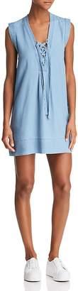 Splendid Lace-Up Shift Dress