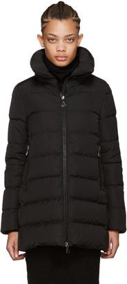 Moncler Black Down Petrea Coat $995 thestylecure.com