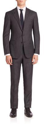 Ralph Lauren Purple Label Striped Wool Suit $2,795 thestylecure.com
