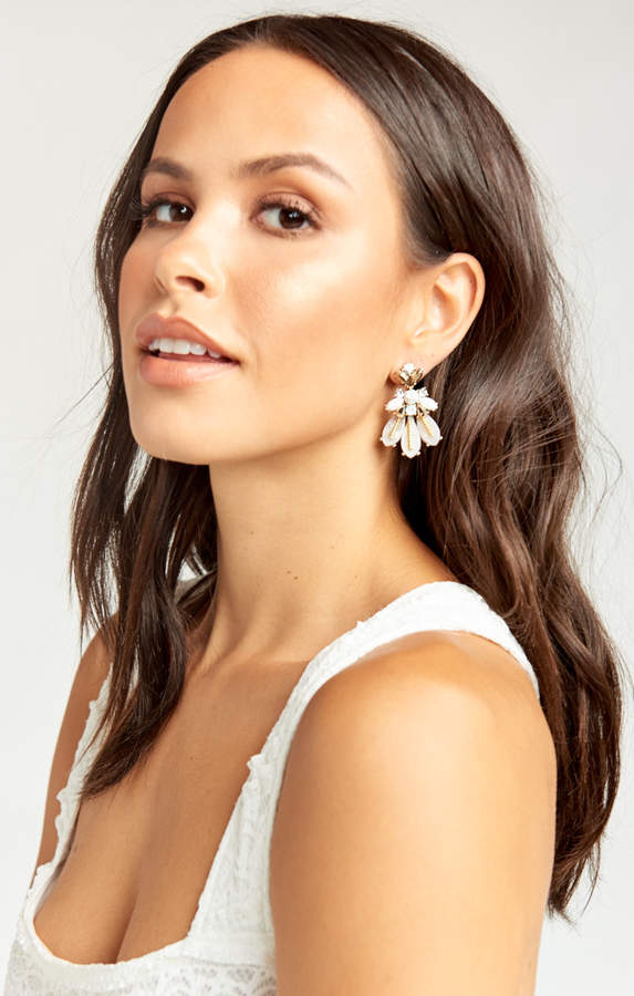 Show Me Your Mumu Sabine Crystal Earrings ~ White Crystal