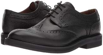 Eleventy Pebbled Leather Wingtip Lace-Up Men's Lace Up Wing Tip Shoes