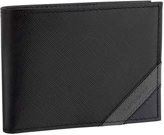 Samsonite Men's RFID-Blocking Leather Bi-Fold Wallet with Zippered Pocket