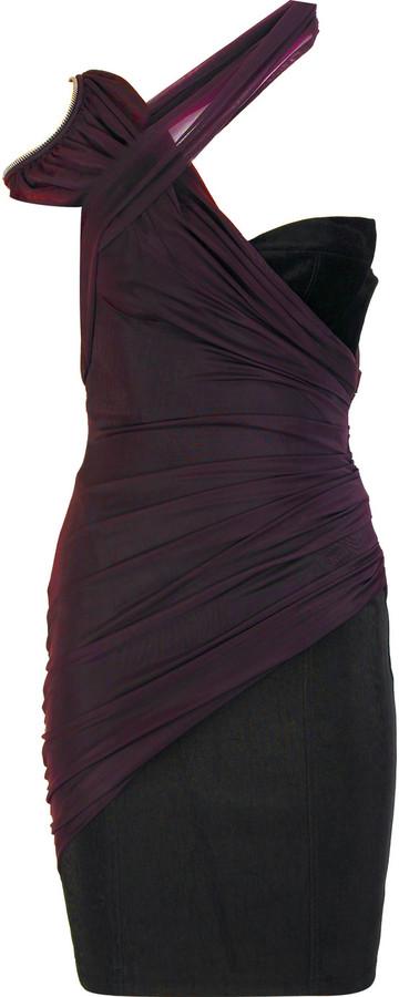 Alexander Wang Crepe one-shoulder dress