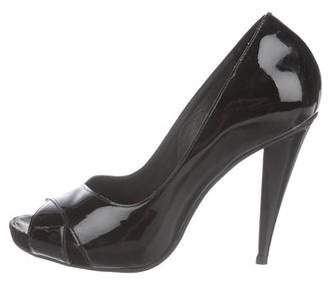 KORS Michael Michael Patent Leather Peep-Toe Pumps
