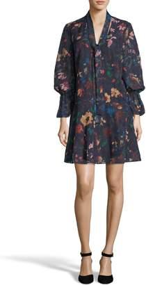 ECI Burnout Jacquard Shift Dress