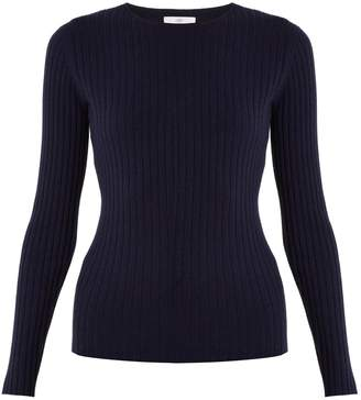 Allude Round-neck ribbed-knit cashmere sweater