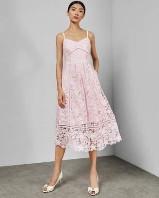 b3c22552a9e Ted Baker VALENS Mixed lace midi dress