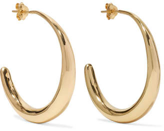 Dinosaur Designs Louise Olsen Large Liquid Gold-plated Hoop Earrings - one size