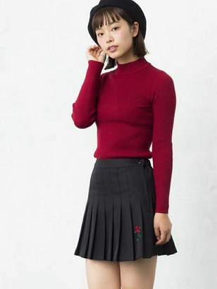 BROWNY STANDARD (ブラウニー スタンダード) - BROWNY STANDARD BROWNY STANDARD/(L)ROSE刺繍プリーツミニスカート ウィゴー スカート