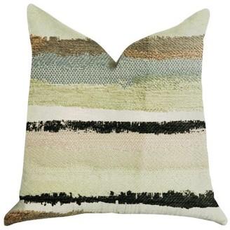 Plutus Brands Plutus Lime Stone River Sand Multi Color Luxury Throw Pillow