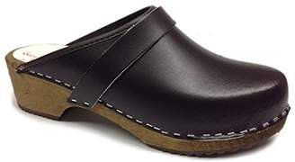 World of Clogs.com AM-Toffeln 100 Wooden Clog in leather - Size 44