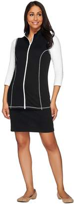 Factory Quacker French Terry Zip Front Vest and Skort Set