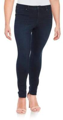 Jessica Simpson Plus Plus Kiss Me Super Skinny Jeans - Blue