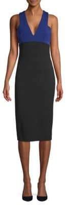 Victoria Beckham Colorblock Sleeveless Sheath Dress