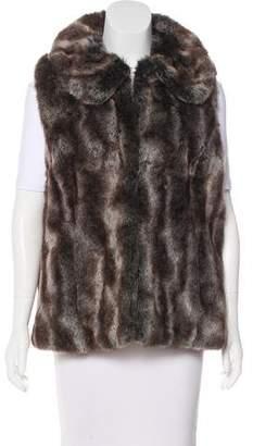 Rachel Zoe Faux Fur Collared Vest