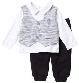 Calvin Klein Novelty French Terry Vest Top & Pants Set (Baby Boys)
