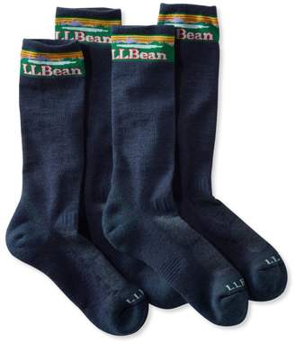 L.L. Bean L.L.Bean Men's All-Sport PrimaLoft Socks, Lightweight Crew Two-Pack