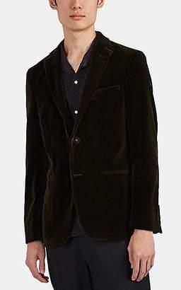 Officine Generale Men's Cotton Velvet Two-Button Sportcoat - Olive