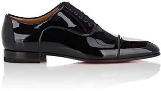 Christian Louboutin Men's Greggo Flat Patent Leather Balmorals