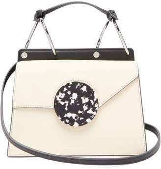 Danse Lente Phoebe Bis Two Tone Leather Bag - Womens - Cream Multi