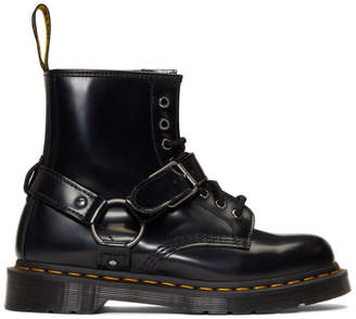 Dr. Martens Black 1460 Harness Lace-Up Boots