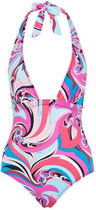 Pucci Printed Plunge Swimsuit
