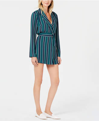Living Doll Rules of Etiquette Striped Belted Romper