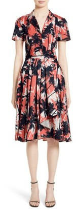 Women's Jason Wu Print Cotton Fit & Flare Shirtdress $1,195 thestylecure.com