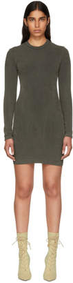 Yeezy Grey Crewneck Jersey Dress