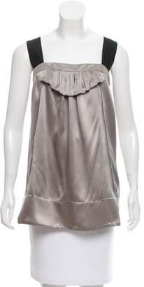 Miu Miu Sleeveless Silk Top
