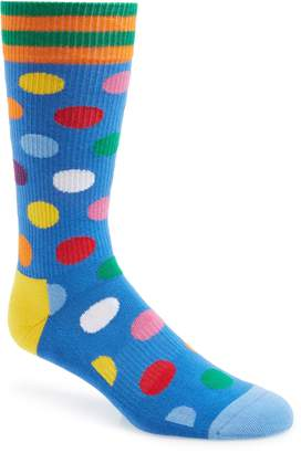 Happy Socks Athletic Big Dot Socks