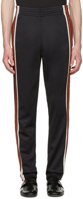 Wales Bonner Black Palms Track Pants $555 thestylecure.com