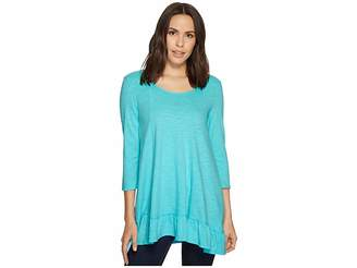 Mod-o-doc Slub Jersey Peplum Tunic Women's Clothing