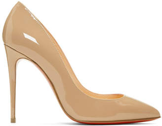 Christian Louboutin Beige Patent Pigalles Follies Heels