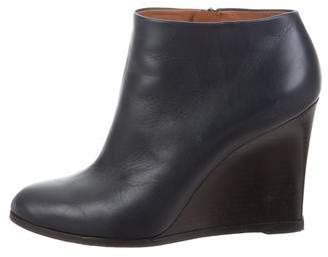 Celine Pointed-Toe Wedge Booties