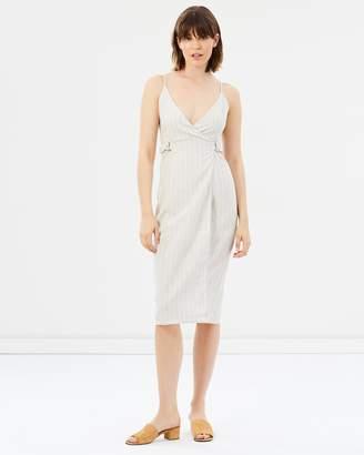 The Catch Linen Wrap Dress