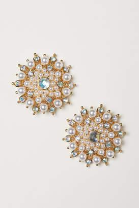 H&M Rhinestone Earrings - White