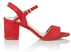Barneys New York WOMEN'S SUEDE ANKLE-STRAP SANDALS - RED SIZE 7