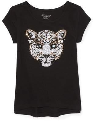 Children's Place The Leopard Sequin T-Shirt (Little Girls & Big Girls)