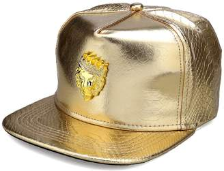 MCSAYS Hip Hop Crown Lion Head with Rhinestone PU snap Leather Sports Caps Baseball Cap/Hat Man