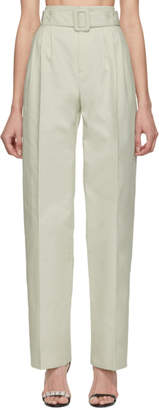 Off-White Off White  Cotton Front Pleat Trousers