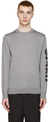 Comme des Garcons Grey Printed Sleeve T-Shirt