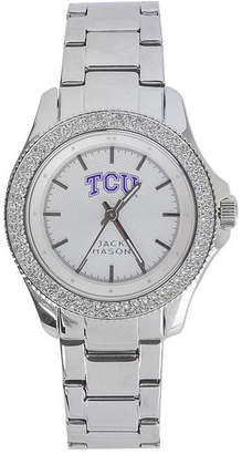 Jack Mason Women Texas Christian Horned Frogs Glitz Sport Bracelet Watch