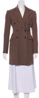 Ralph Lauren Wool Herringbone Knee-Length Coat