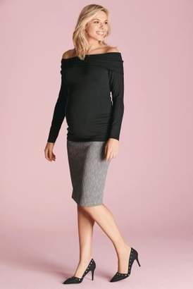 Next Womens Grey Marl Maternity Bodycon Skirt