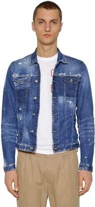 DSQUARED2 Bleached Spots Cotton Denim Jacket