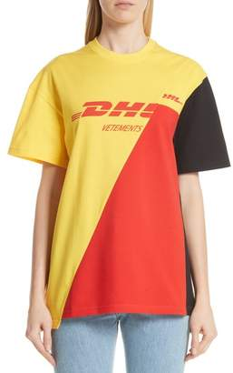 Vetements DHL Cut-Up Tee